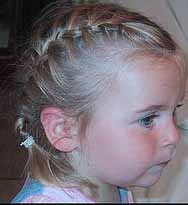 Girl with a french braid