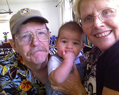 Grandparents and a child