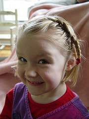 Little girl with braided hair