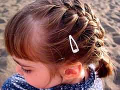 Toddler girl french braid hair