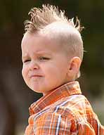 Long spikes haircut style for boys
