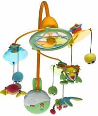 Tiny Love Symphony Light and Motion Mobile in Blue/Yellow